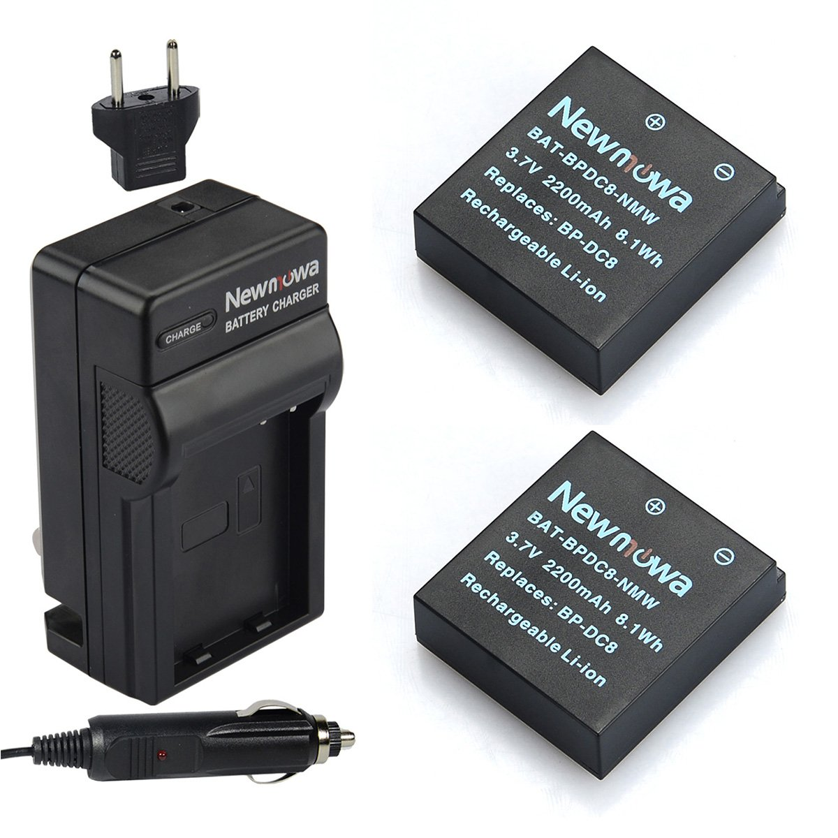 Newmowa BP-DC8 Battery (2-Pack) and Charger kit for Leica MINI-M
