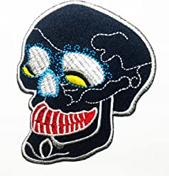Cherry Skull Fruit Blood Drop Rockabilly Patch Cute Embroidered Sew Iron On Patches Badge Bags Hat Jeans Shoes T-Shirt Applique