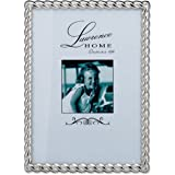 Lawrence Frames 710057 Silver Metal Rope Picture Frame, 5 by 7-Inch
