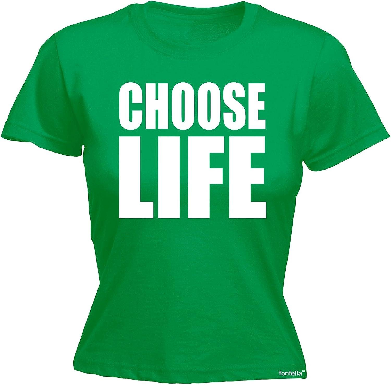 Fonfella Slogans Womens Choose Life Fitted T Shirt