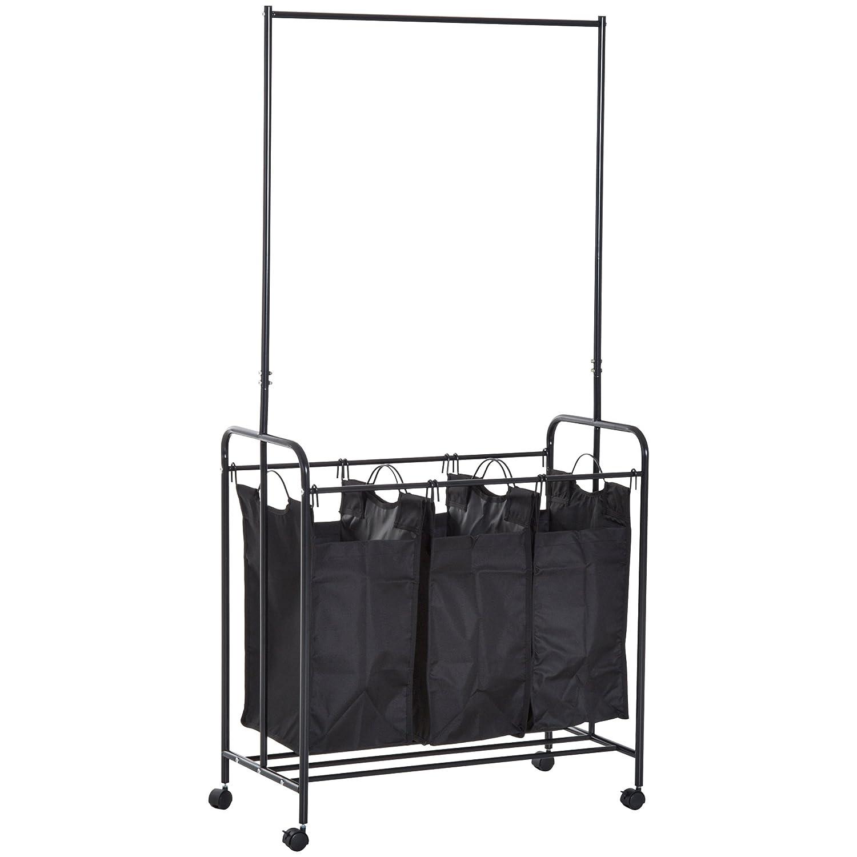 Amazoncom Homcom 3 Bag Heavy Duty Divided Laundry Hamper Sorter