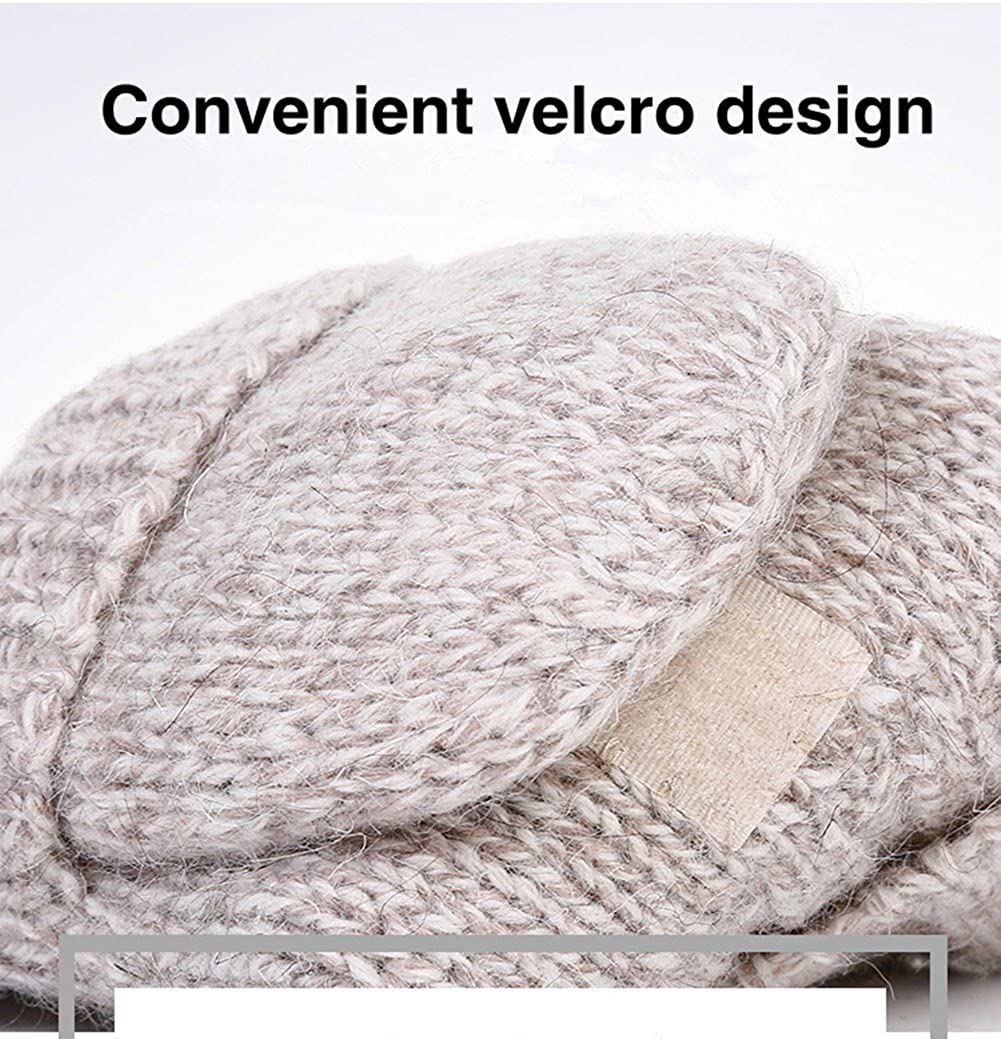 Winter Mittens Warm Wool Knit Mitten Thinsulate Fingerless Gloves Texting Mitten
