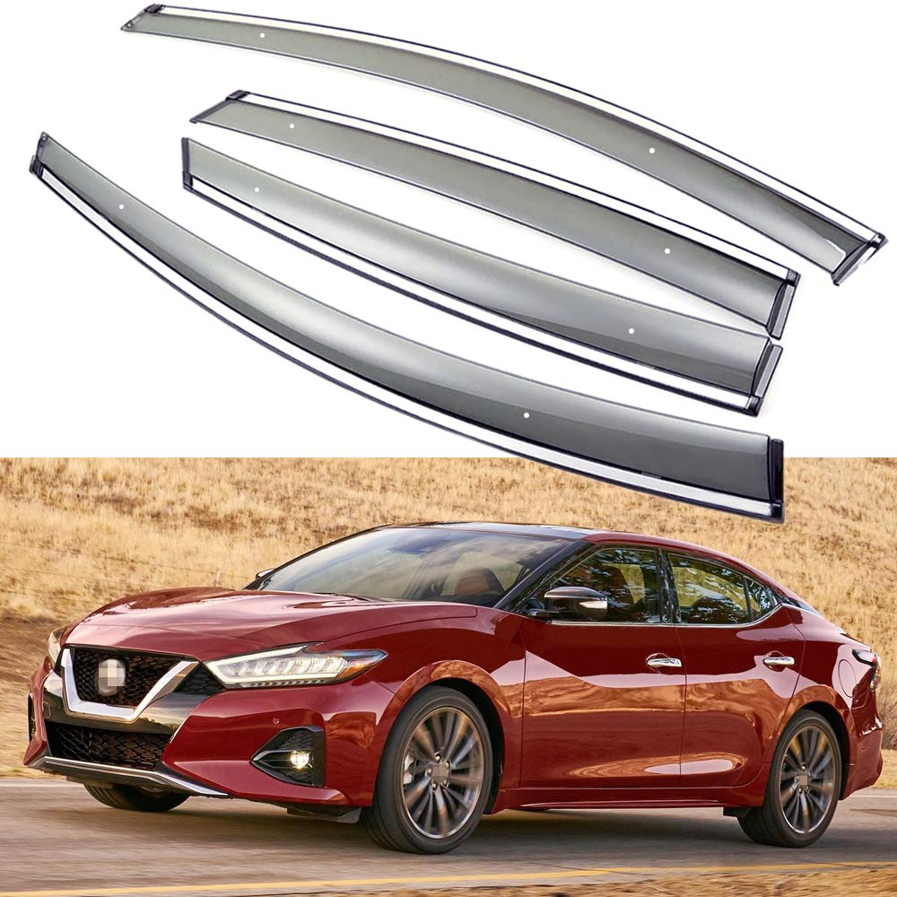 SPEEDLONG 4Pcs Car Window Visor Vent Shade Deflector Sun/Rain Guard for Nissan Maxima 2016 2017 2018 2019
