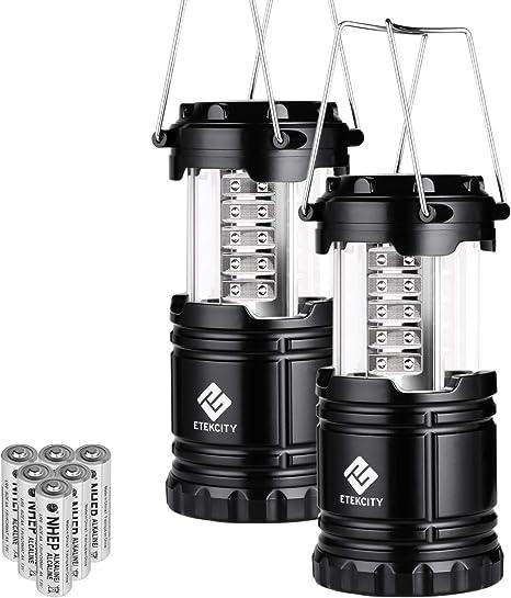 Huiiv 2 Pack portátil LED Linterna de Camping linternas con 6 ...