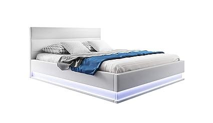 muebles bonitos Cama canapé abatible de Matrimonio Moderna Nitas con somier de láminas para colchón de