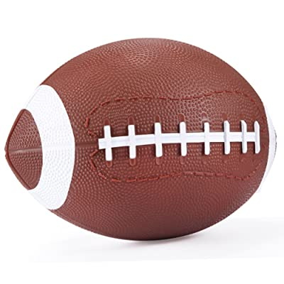 """YAPASPT Football for Toddlers Mini Cute American Footballs Handheld Kids Toy,Bouncy and Soft 7.5""""Water Beach Ball Come Deflate(Brown): Toys & Games [5Bkhe1205397]"""