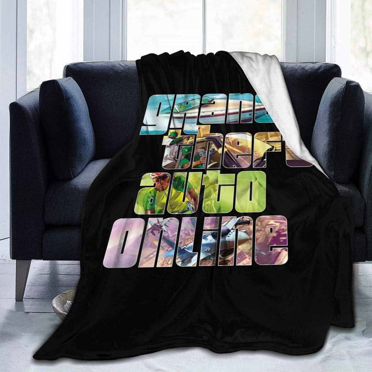 ASFSDGSDG Gta5 Grand Theft Auto V Soft and Warm Throw Blanket Digital Printed Ultra-Soft Micro Fleece Blanket(50 X40,60 X50,80 X60)