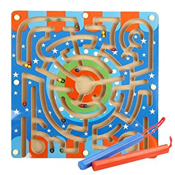 GZQ Juego de Madera Educativ,, Madera Laberinto Magnético Puzzle ...