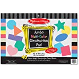 Melissa & Doug Jumbo Multi-Colored Construction Paper Pad (12 x 18 inches) With 48 Sheets