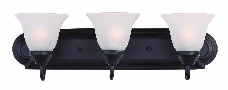 Oil rubbed bronze bathroom lighting fixtures - Maxim Lighting 8013mroi Essentials Bath Vanity Oil Rubbed Bronze Vanity Lighting Fixtures Amazon Com