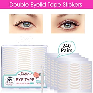 Lameila 240 Pair Natural Invisible Fiber Double Eyelid Tape Stickers - Instant Eye Lift Without Surgery