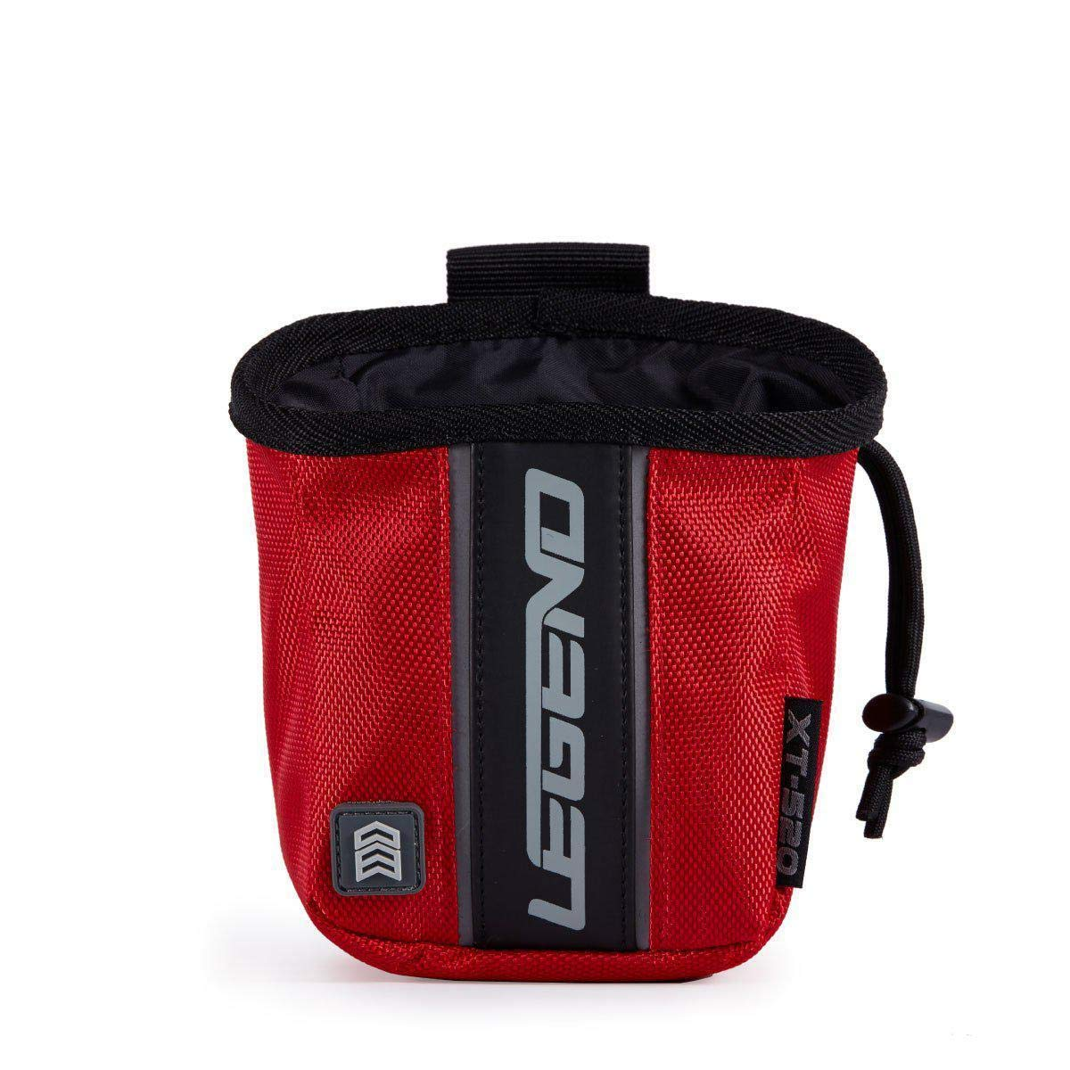 Legend Archery Release Aids Pouch Bag with Belt Loop Draw String and Zipped Pocket XT520 (Red) by Legend