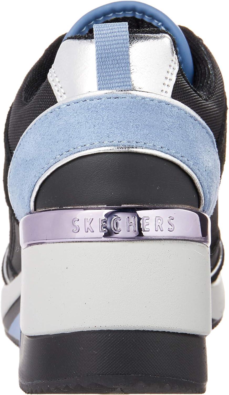 Skechers Million High N Fly, Baskets Femme Noir