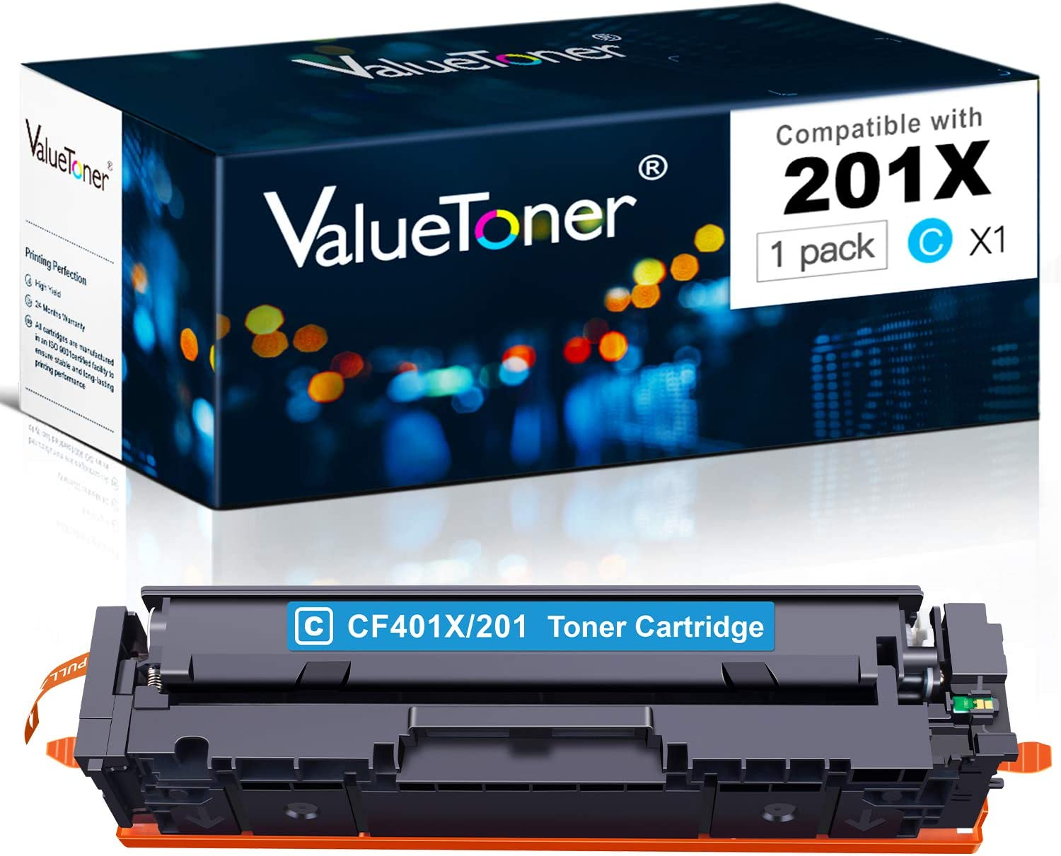 Valuetoner Compatible Toner Cartridge Replacement for HP 201A 201X for Color Laserjet Pro MFP M277dw M252dw M277n M277c6 M252n M252 M277 Printer (Cyan)