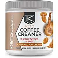 KetoLogic KetoLogic Keto Coffee Creamer with MCT Oil Powder, Caramel Macchiato | for Sustained Energy & Appetite Control…