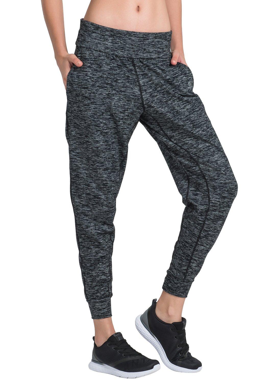 Matymats Women's Sports Harem Sweat Pant Jersey Pocket Jogger (Medium/Tag Size 6,Grey)