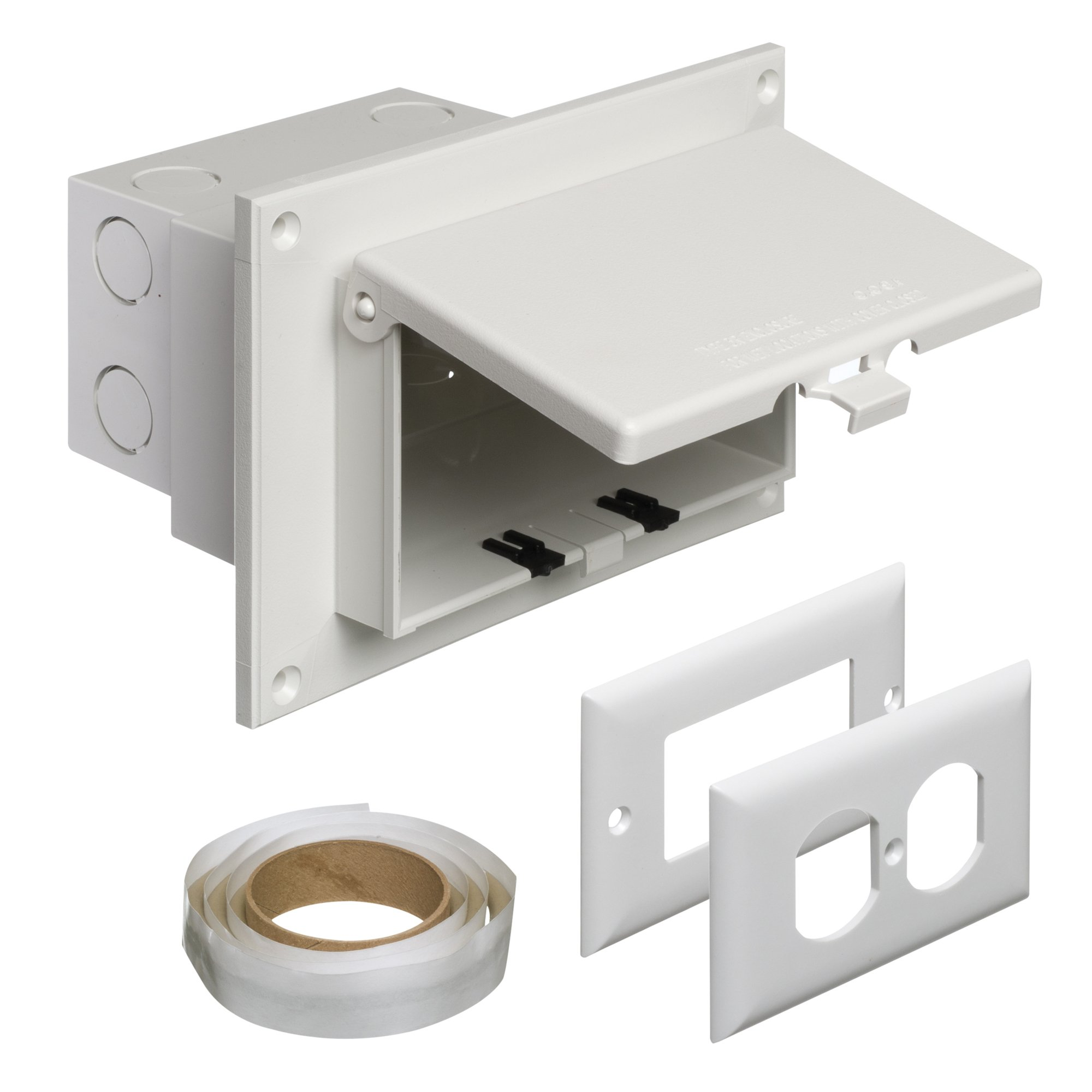 Surface mount outdoor electrical outlet for Exterior electrical outlet box