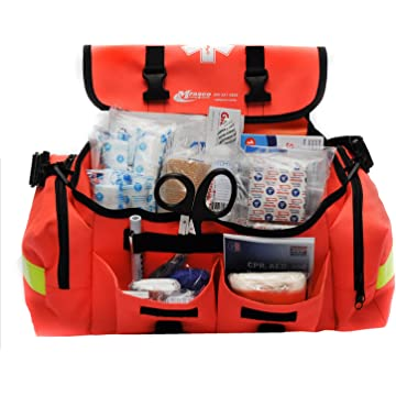 best MFASCO - First Aid Kit - Complete Emergency Response Trauma Bag - For Natural Disasters - Orange reviews