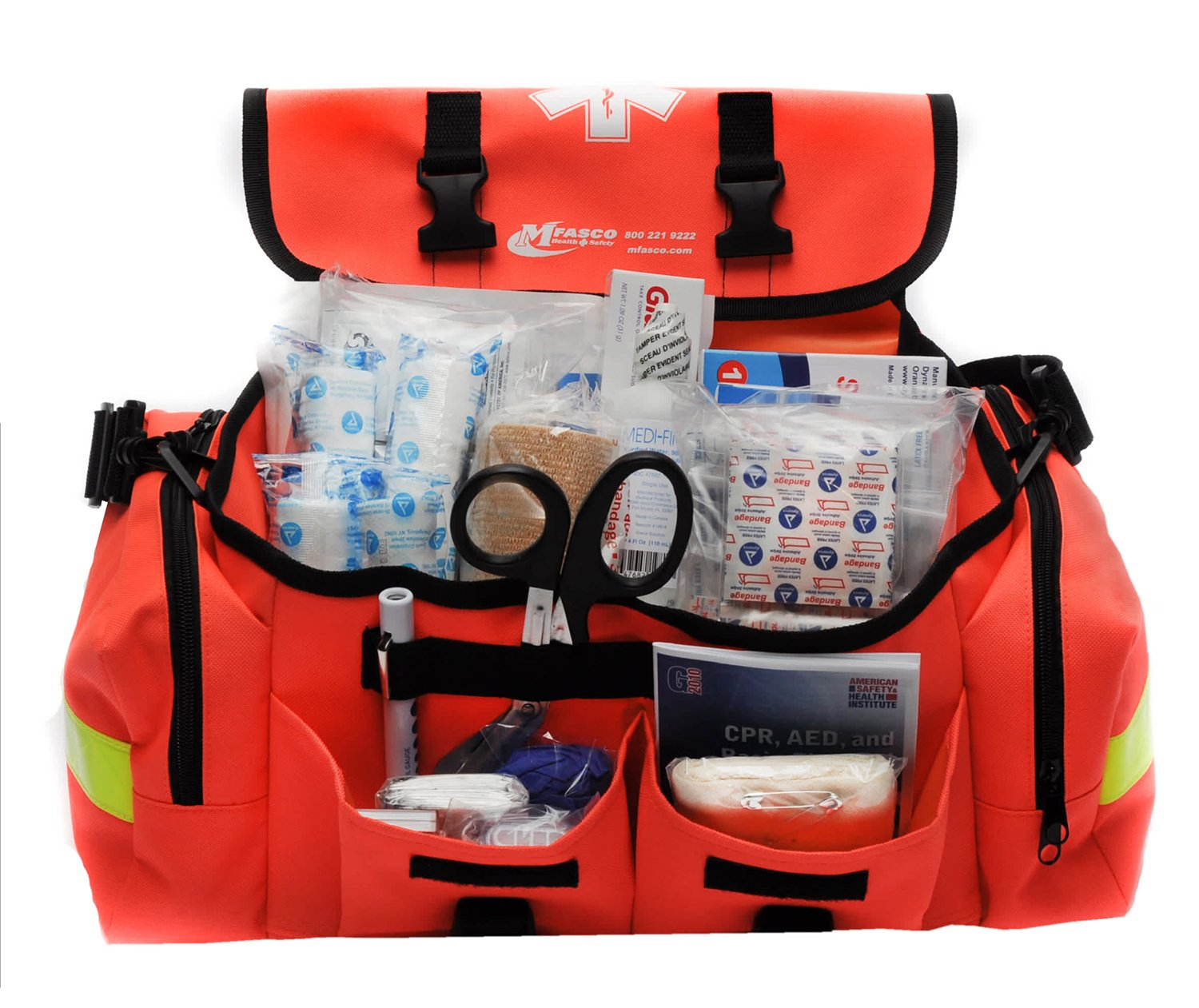 MFASCO - First Aid Kit - Complete Emergency Response Trauma Bag - for Natural Disasters - Orange by MFASCO