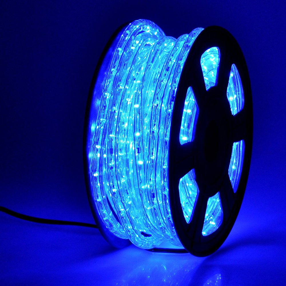 Amazon.com: Yescom 50ft Blue LED Rope Light Indoor Outdoor Holiday  Valentines Party Disco Restaurant Cafe Decoration 100: Home Improvement
