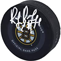 $71 » Ray Bourque Boston Bruins Autographed Reverse Retro Logo Hockey Puck - Autographed NHL Pucks