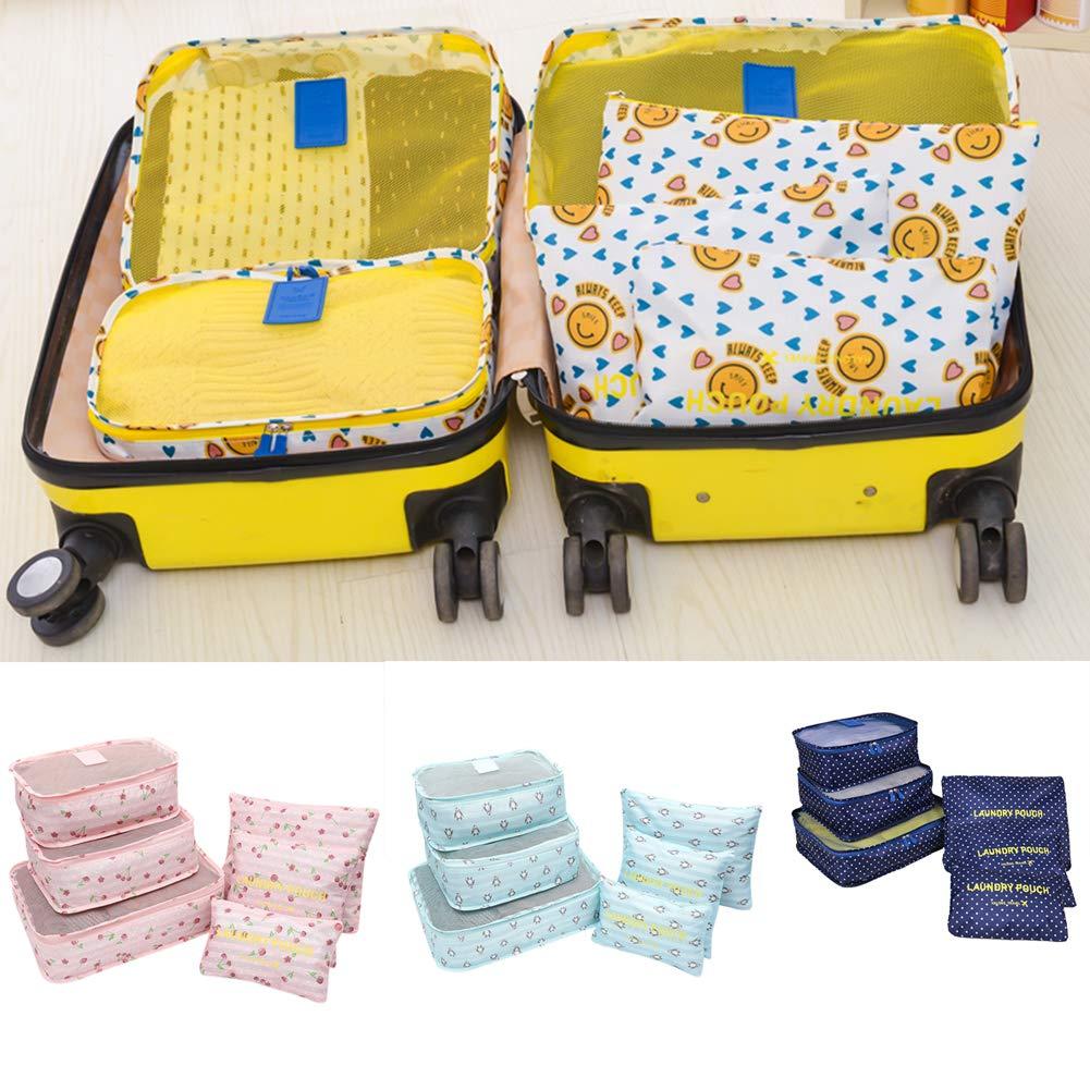 883f1812c4b7 Amazon.com: Aoile 6Pcs Travel Storage Bag Luggage Organizer Packing ...