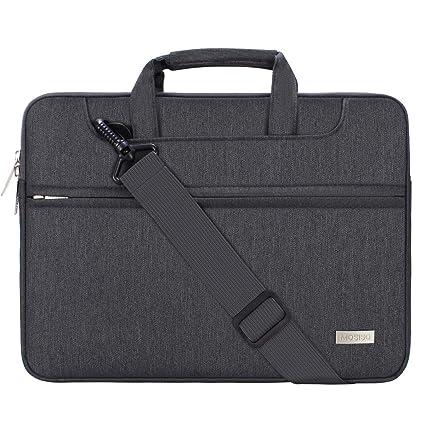 MOSISO Funda Protectora Compatible con 13-13.3 Pulgadas MacBook Air/MacBook Pro Retina/2018 Surface Laptop 2/Surface Book, Bolsa de Hombro Blanda ...