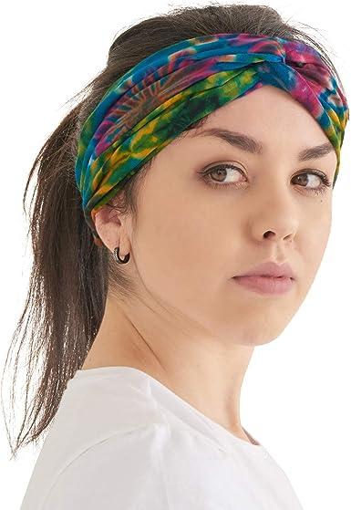 Sweatband Bandana Turban Women Men Head Wrap Magic Scarf Headwear