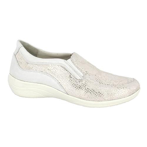 Ströber - Mocasines Mujer, Color Plateado, Talla 40: Amazon.es: Zapatos y complementos