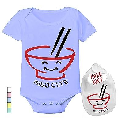 0efa1671f Amazon.com: Miso Cute - Cute Custom Boutique Baby Bodysuit Onesie & Matching  bib: Clothing