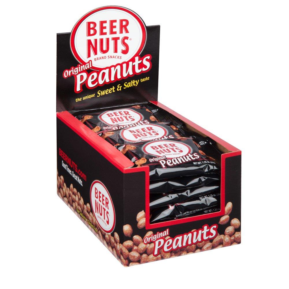 BEER NUTS Original Peanuts | 24 Pack Box - 1.25 oz. Individual Bags - Sweet and Salty