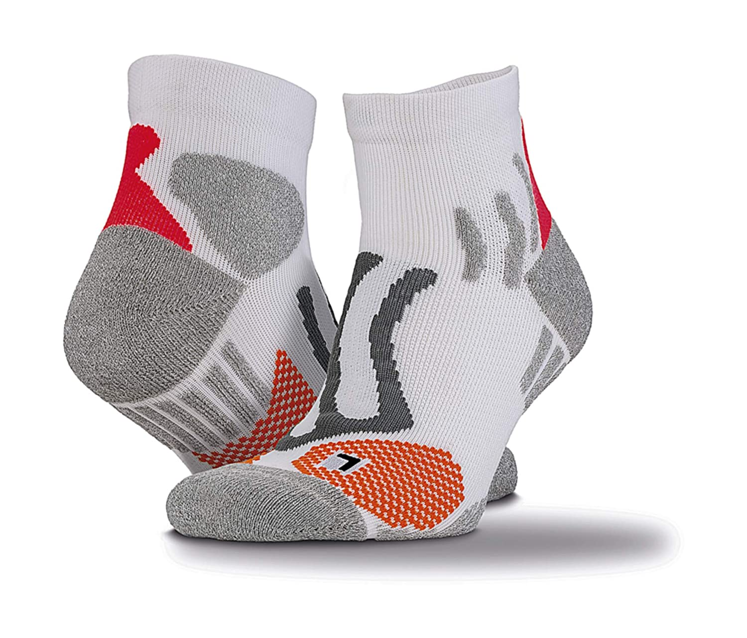 Compression Sports Socks for runners/Men and Women/s, Anti-bladder and Double Layered Cushioned Arch Support