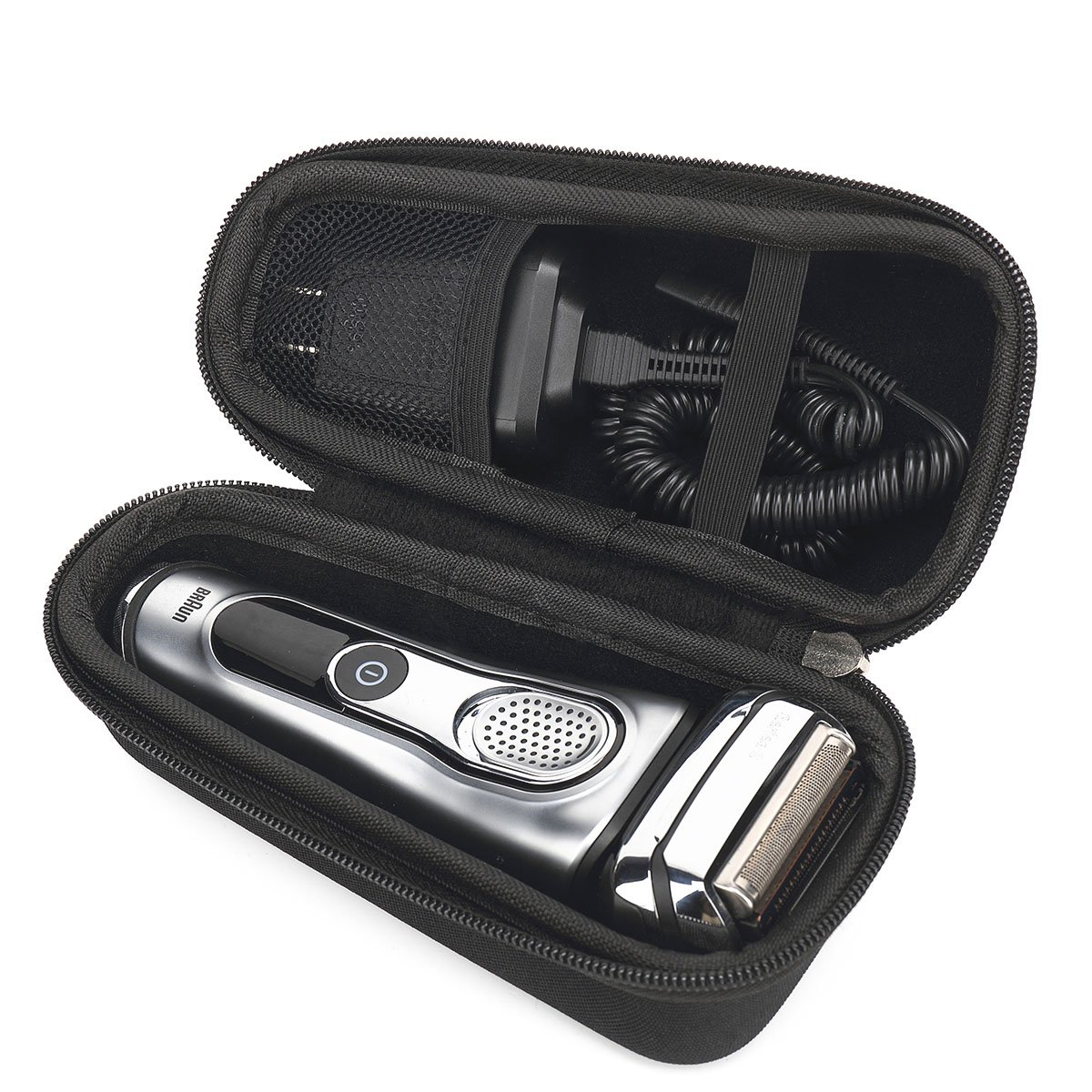 Hard Travel carrying Case for Braun Series 5 7 9 5090 5190cc 9290CC 790cc 9090cc Men Shavers Razor with mesh bag by Aproca