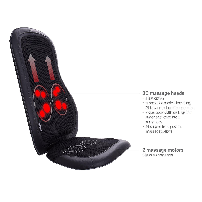 Amazon Ivation Shiatsu Massage Chair Vibration Seat with Heat