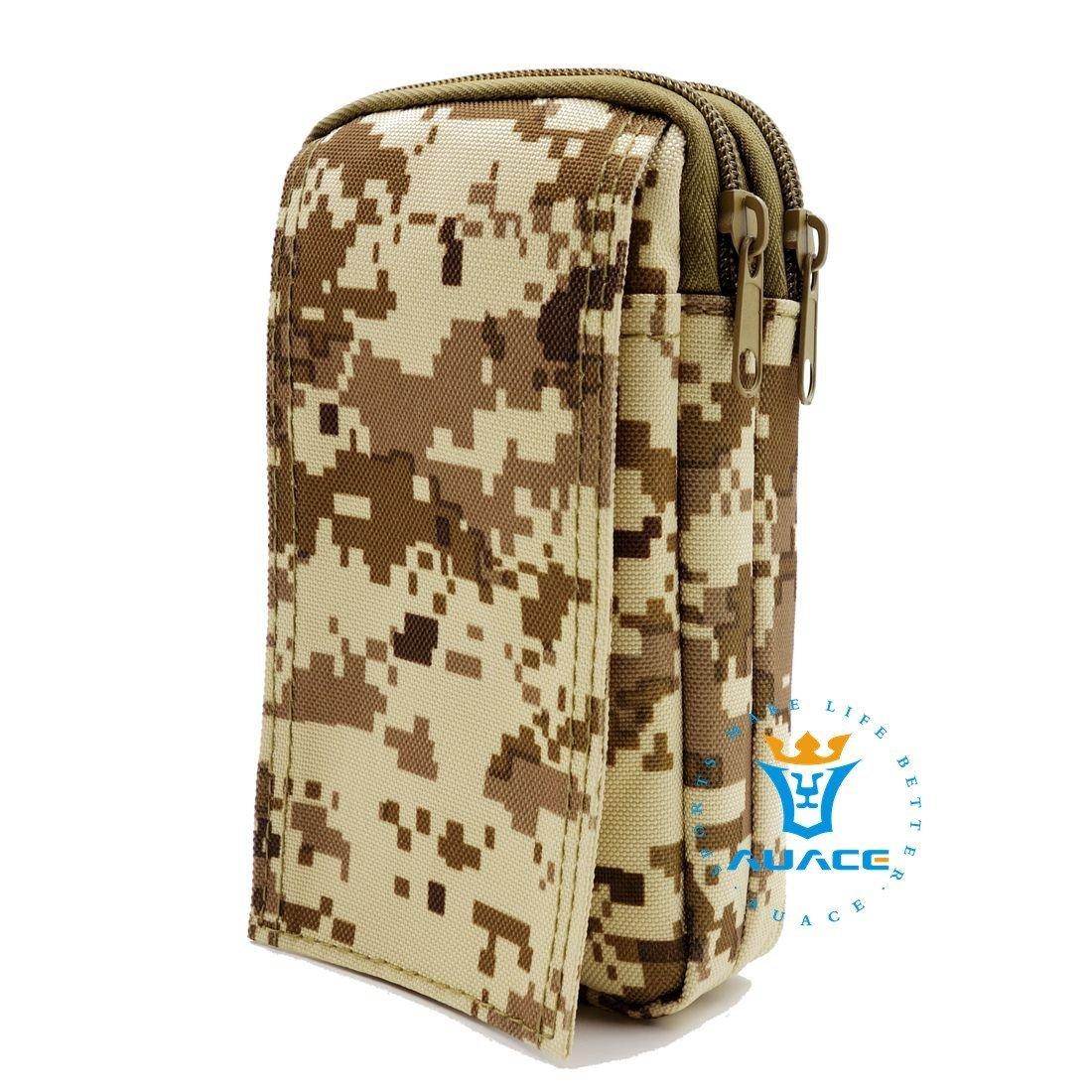 Multifunción Supervivencia Gear Tactical Carteras Bolsa de Molle Militar Asalto Cintura Pack, bolsas de camping herramienta de bolsos bolsas de viaje portátil Waist Bag Phone Pouch BK AUACE