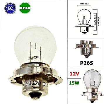 Qualitats Gluhlampe Lampe Mit E Zeichen 12v 15w P26s Amazon