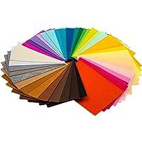 TRIXES 40PCS Felt Fabric Sheets – A4 Size Textile Fuzzy Fabrics DIY Craftwork - Multi-Colour Rectangular Shape – Cut to…