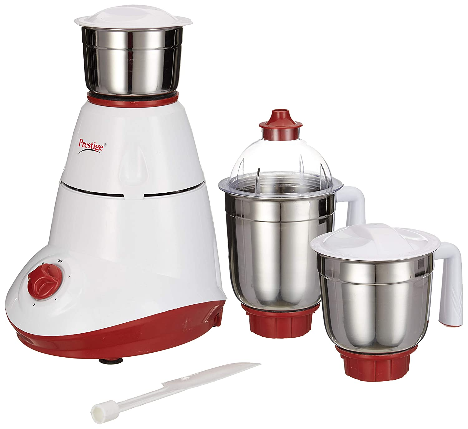 Prestige Star 750-Watt Mixer Grinder with 3 Jars (White)