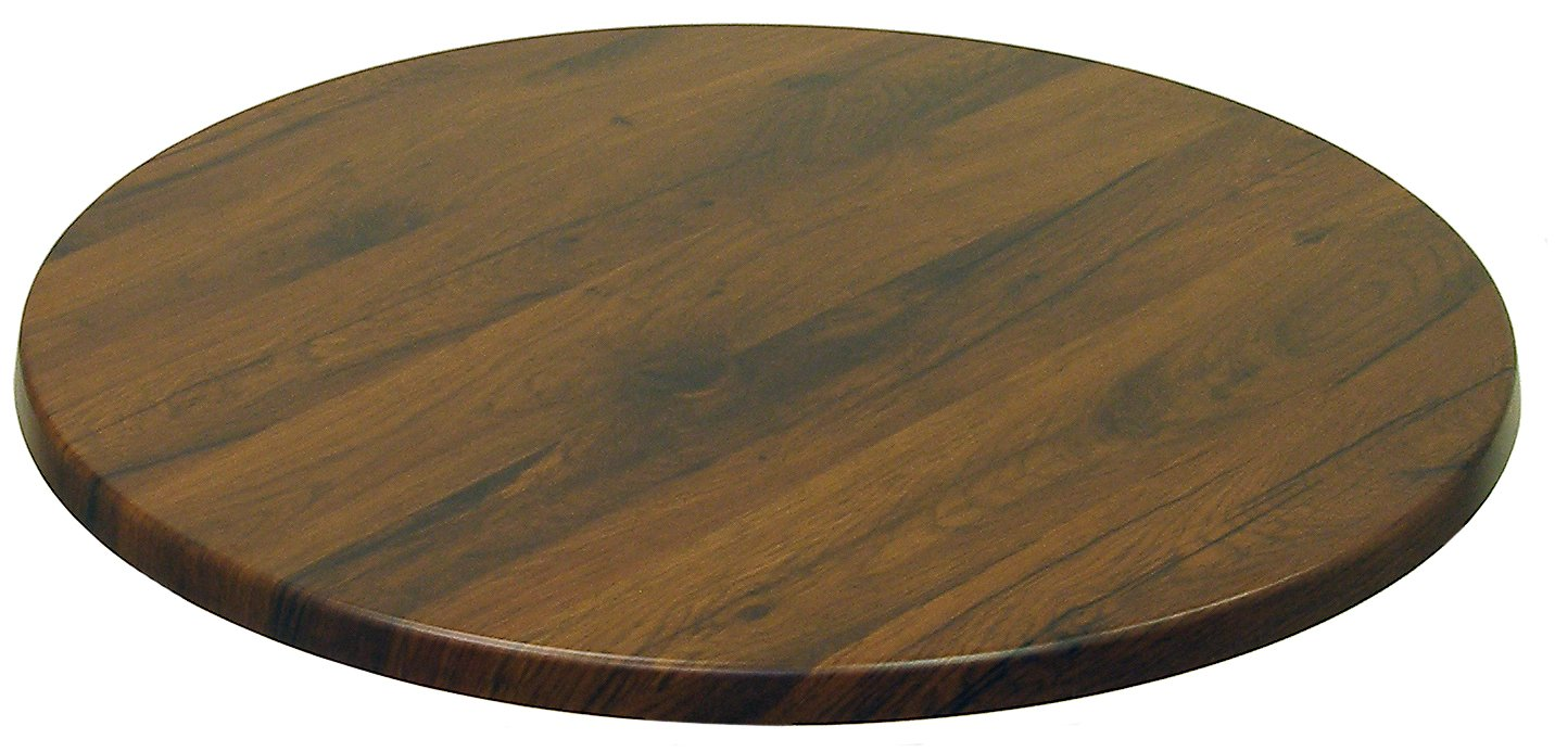 ATC Werzalit Wood-Look All-Weather Table Top, 48'' D, Antique Oak by American Trading Company (Image #1)