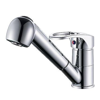 Derpras Wasserhahn K/üche 360/° drehbar K/üchenarmatur Sp/ültischarmatur Mischbatterie Sp/ülbecken Armatur ausziehbar Brause Sp/ültischbatterie