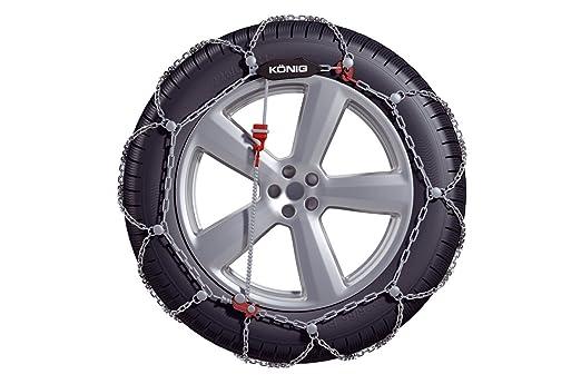 Thule | König Cadenas de nieve - la princesa drige 12 mm cadena de nieve - extremadamente resistente con cadenas de metal duro de stegen a para Nissan pick ...