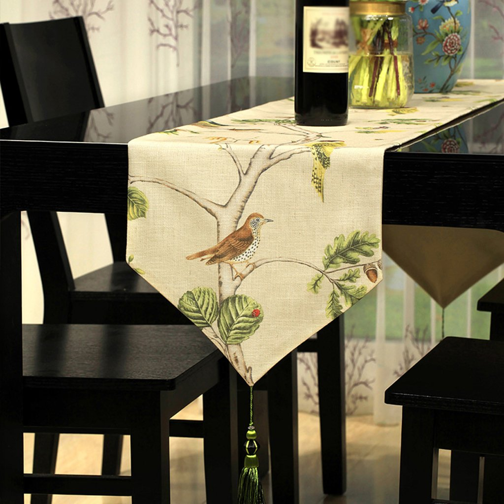 32180cm TABLE RUNNER Linen fabric printing Table flag Cloth decoration luxurious table cloth classic Wild Table mats coffee table decoration Home furnishings Bed towel Beige