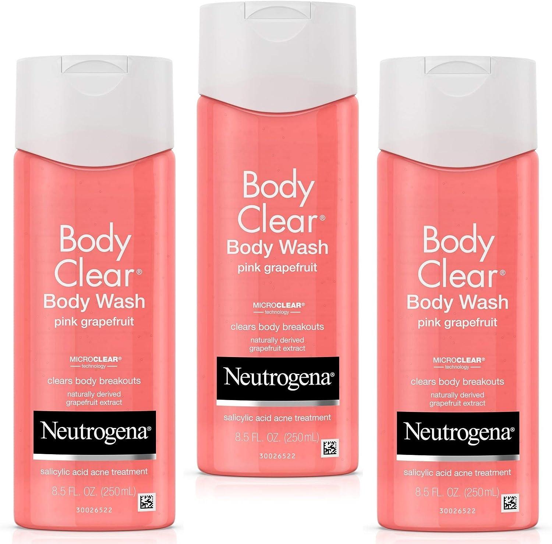Neutrogena Body Clear Acne Treatment Body Wash with Salicylic Acid Acne Medicine to Prevent Body Breakouts