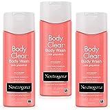 Neutrogena 露得清 Body Clear水杨酸沐浴露 粉红葡萄柚 8.5盎司/250ml*3 (3瓶装)