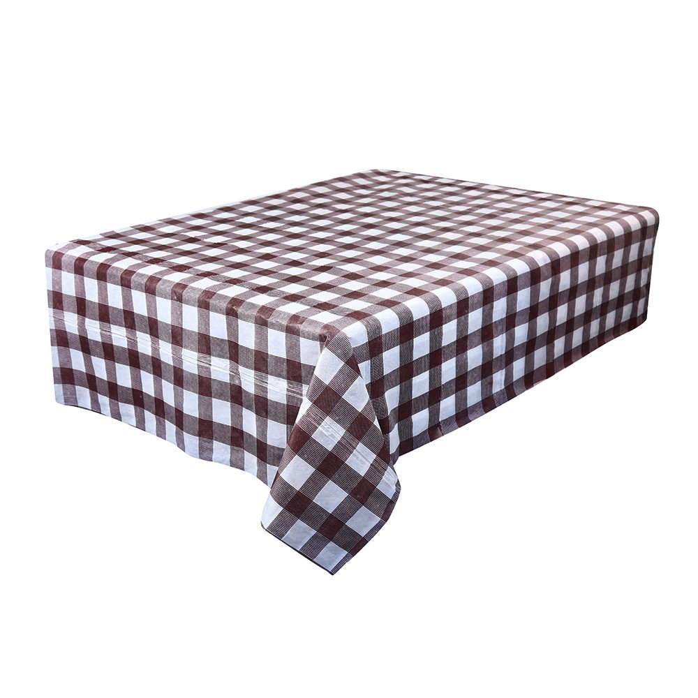 Clothful  Waterproof Plastic Tablecovers Table Cloth Cover Party Catering Events Tableware