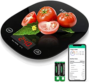Berytta Smart Food Scale,Bluetooth Digital Kitchen Scale for Baking Cooking,Accurate Food Scale Digital Weight Grams and Oz Nutritional Calculator Scale with Smartphone APP for Calorie Counting