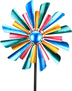 """Wind Spinner 17"""" Colorful Wind Sculptures for Patio Lawn and Garden Let You Feel Different Visual Effects and Relax Your Mood"""