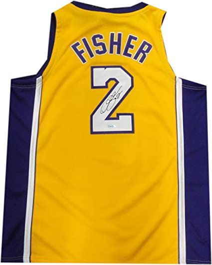 5beb177fb6a Derek Fisher Hand Signed Autographed NBA Basketball Jersey Lakers UDA  SHO83848