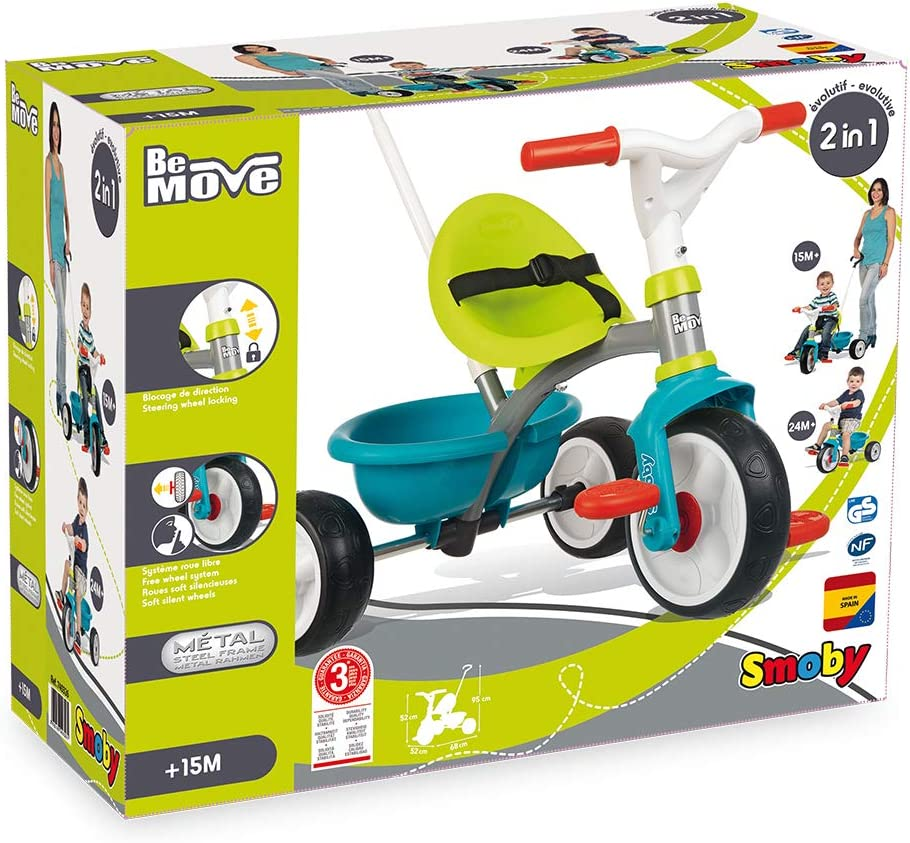 Amazon.com: Smoby, Blue Trike Be Move, 740326: Toys & Games