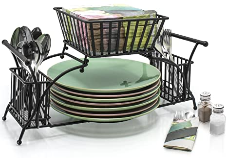 Amazon.com: Sorbus Utensil Caddy - Use For Napkin, Cutlery, Plate ...